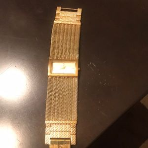 Anne Klein gold bracelet watch